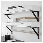IKEA EKBYALEX Полка с ящиками, белый  (201.928.28), фото 3