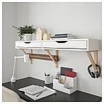 IKEA EKBYALEX/EKBYVALTER Настенная полка с ящиками, белый, береза  (892.946.69), фото 3