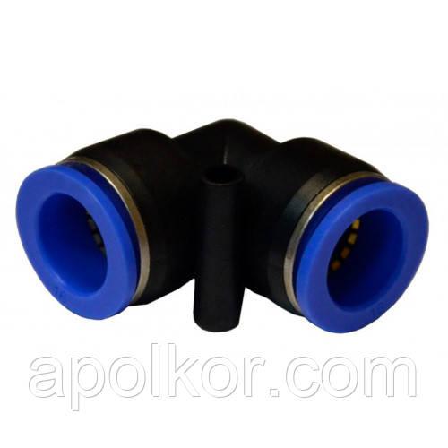 Соединение цанговое для полиуретановых шлангов PU/PR (Г-обр., шланг)  12мм AIRKRAFT SPV12