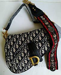 Женская сумка клатч в стиле Dior Saddle материал текстиль