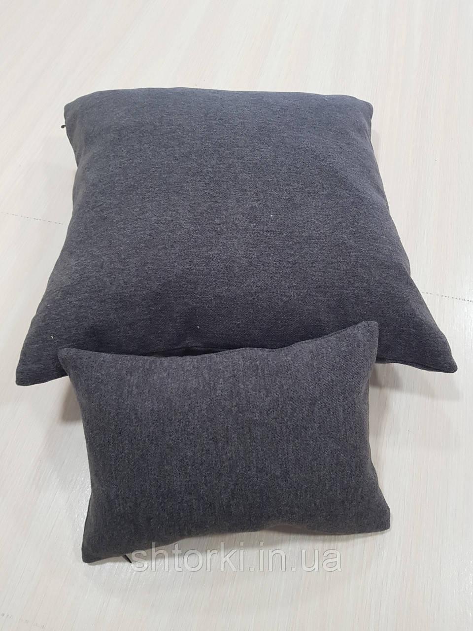 Комплект подушек темно серые войлок, 2шт