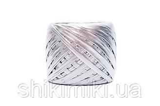 Трикотажная пряжа Maccaroni Metalliс, цвет Серебро