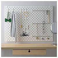 IKEA SKADIS Перфорированная панель, белый (492.166.97)