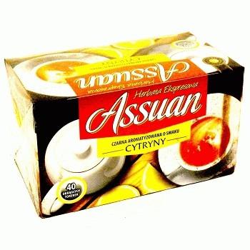 Чай черный Assuan Cytryny c лимоном Польша (40 пакетиков)