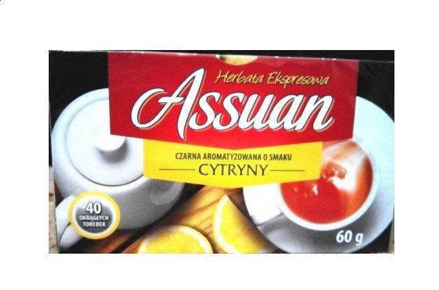 Чай черный Assuan Cytryny c лимоном Польша (40 пакетиков), фото 2