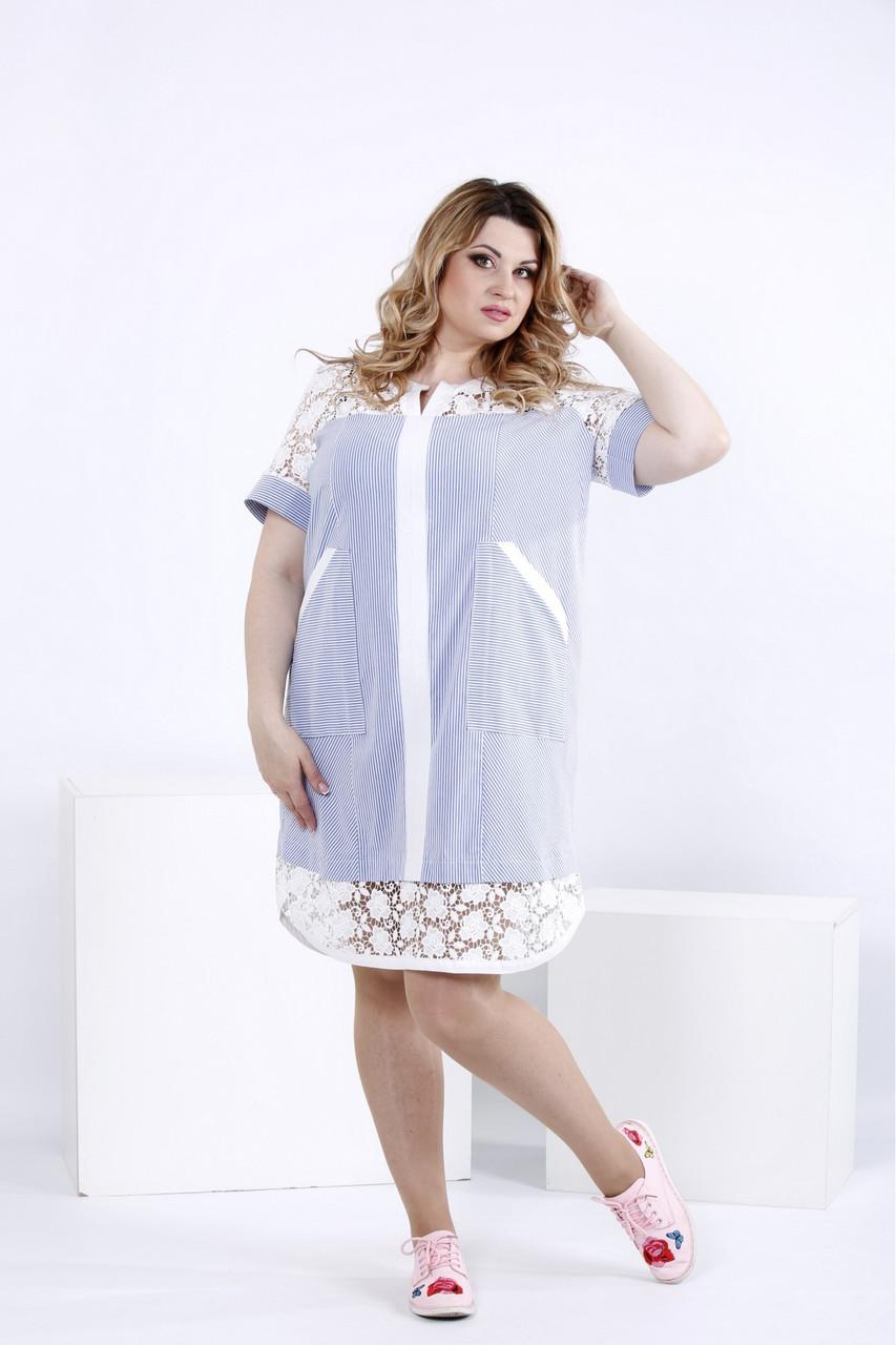 Легке плаття-сорочка   0835-1 великий розмір