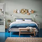 IKEA NESTTUN Кровать, белый, Лурой  (191.580.19), фото 2