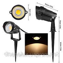 Светильник ландшафтный OL-03  Spike в грунт COB LED 5W/ 4100К  230V IP65, фото 3