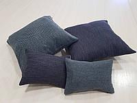 Комплект подушек   Серые рубчик, 4шт, фото 1
