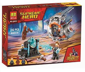Конструктор Bela 10835 Супергерои В поисках оружия Тора (аналог Lego Super Heroes 76102)