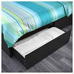 IKEA MALM Кровать высокая, 2 ящика, черно-коричневый  (191.762.59), фото 3