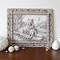 Барельеф Пара волков светящийся в темноте Гранд Презент КР 903 камень светит