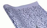 """Бумага упаковочная пт427 подарочная """"Письмо"""", черный и белый крафт 0,7х10м"""