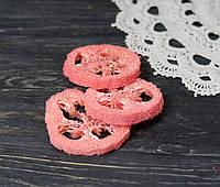 Слайсы люфы коралового оттенка 1 шт, фото 1