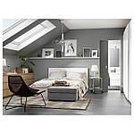 IKEA MALM Кровать высокая, 4 ящика, белый, Лурой  (790.024.40), фото 2