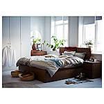 IKEA MALM Кровать высокая, 4 ящика, коричневый окрашенный Шпон (491.571.03), фото 2