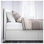 IKEA MALM Кровать высокая, 4 ящика, белый, Лурой  (390.024.42), фото 2