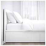 IKEA MALM Кровать высокая, 4 ящика, белый, Лурой  (390.024.42), фото 4