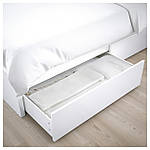 IKEA MALM Кровать высокая, 4 ящика, белый, Лурой  (390.024.42), фото 5