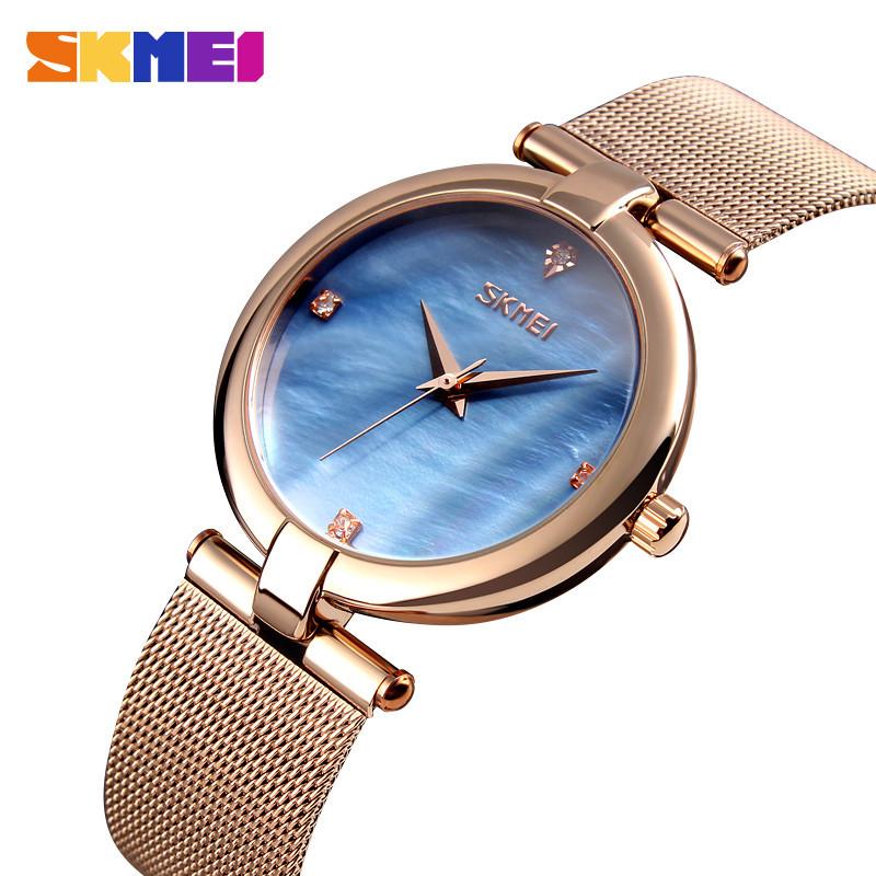 Skmei 9177 marble синие женские часы