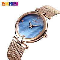 Skmei 9177 marble синие женские часы, фото 1