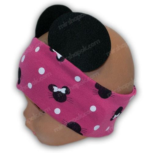 Детская повязка с ушками мики