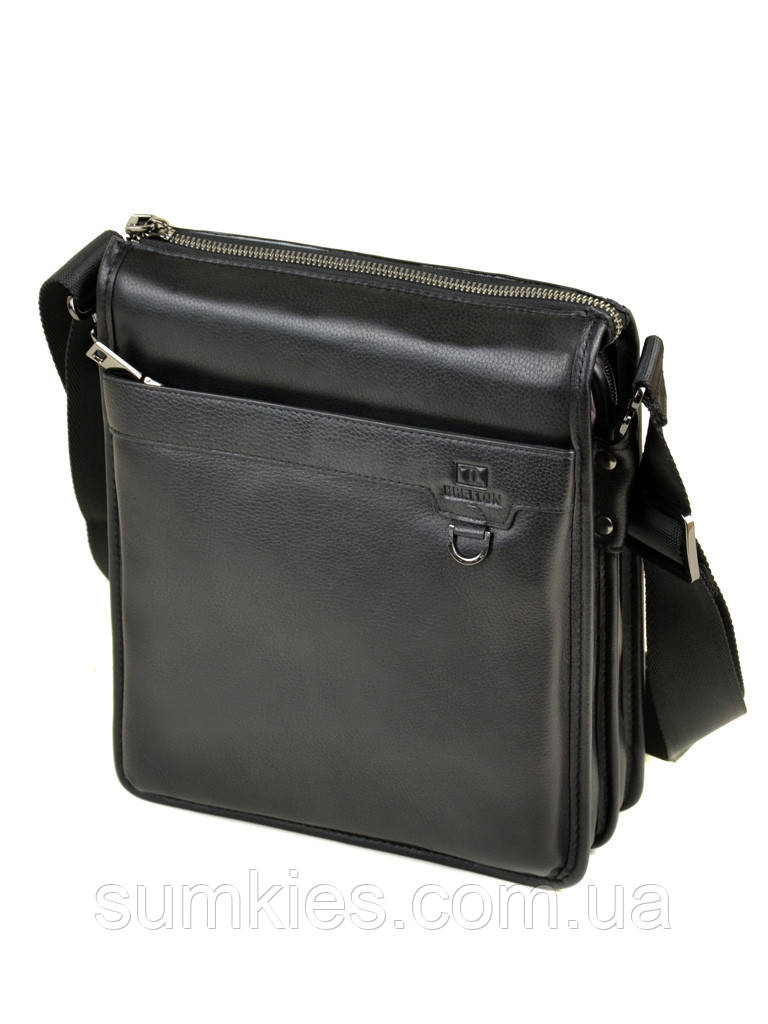 471555248d96 Сумка мужская через плечо Планшет кожаный BRETTON BE 1617-3 black ...