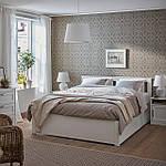 IKEA SONGESAND Кровать с 4 ящиками, белый, Леирсунд  (092.413.35), фото 6