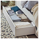 IKEA SONGESAND Кровать с 4 ящиками, белый, Леирсунд  (992.413.45), фото 3