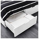 IKEA NORDLI Кровать с ящиками, белый  (003.498.49), фото 4