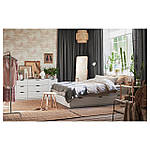 IKEA NORDLI Кровать с ящиками, белый  (003.498.49), фото 5