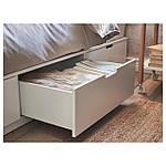 IKEA NORDLI Кровать с ящиками, белый  (003.498.49), фото 6