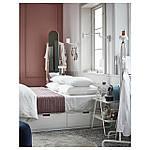 IKEA NORDLI Кровать с ящиками, белый  (003.498.49), фото 7