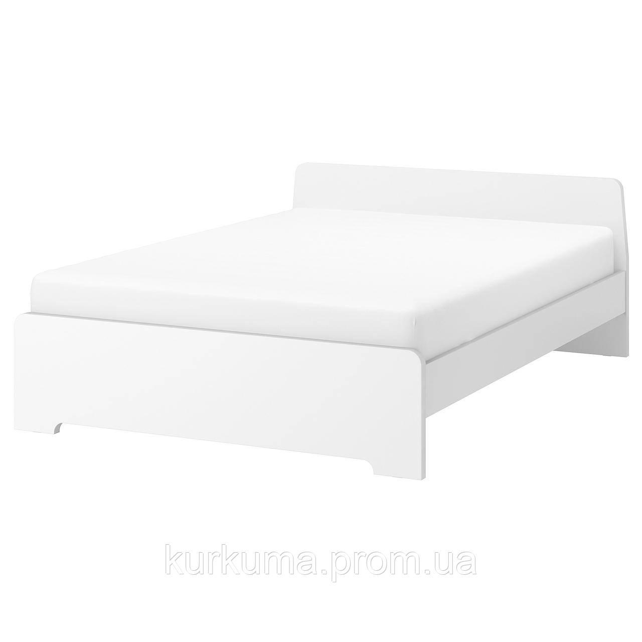 IKEA ASKVOLL Кровать, белый, Леирсунд  (790.305.08)