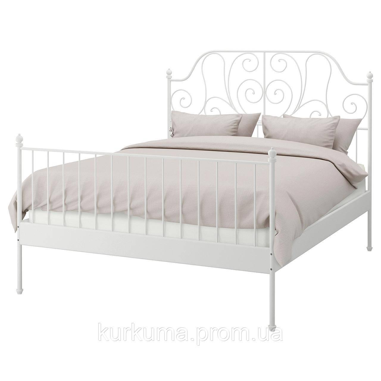 IKEA LEIRVIK Кровать, белый  (192.772.63)