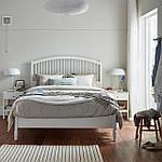 IKEA TYSSEDAL Кровать, белый, Лонсет  (190.581.33), фото 2