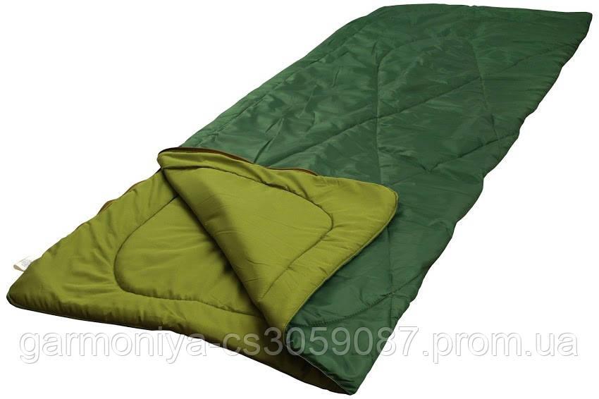 Мешок спальный Руно зеленый 200*85*2см