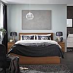 IKEA MALM Кровать высокая, коричневый шпон из окрашенного ясеня, Леирсунд  (191.570.67), фото 6