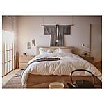 IKEA MALM Кровать высокая, беленый дубовый шпон, Лонсет  (091.750.57), фото 3