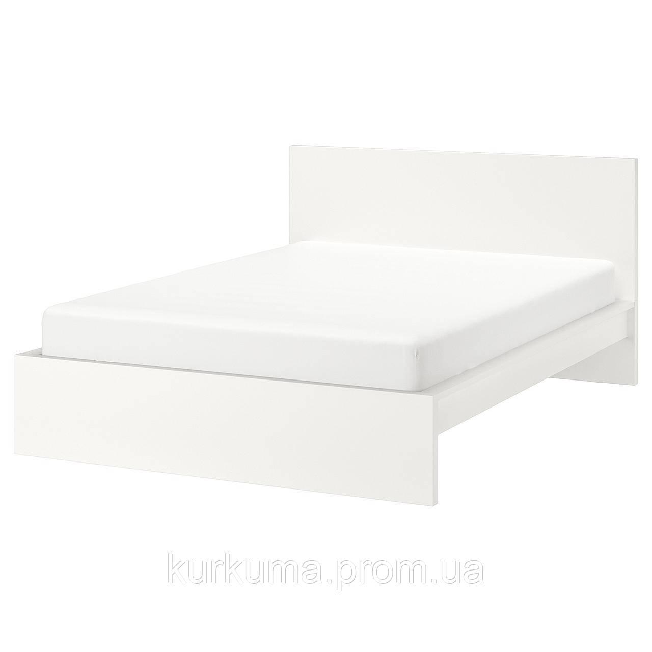 IKEA MALM Кровать высокая, белый  (099.293.73)