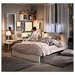 IKEA MALM Кровать высокая, белый, Леирсунд  (590.198.42), фото 2