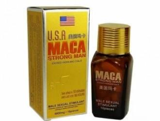 "Таблетки ""Maca Strong Man"" для потенции 10 шт. по 6800 мг., фото 2"