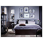IKEA MALM Кровать высокая, черно-коричневый, Лонсет  (490.190.84), фото 2