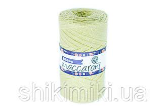Трикотажный плоский шнур Ribbon Glitter, цвет Лайм
