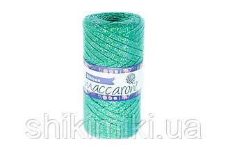 Трикотажный плоский шнур Ribbon Glitter, цвет Трава