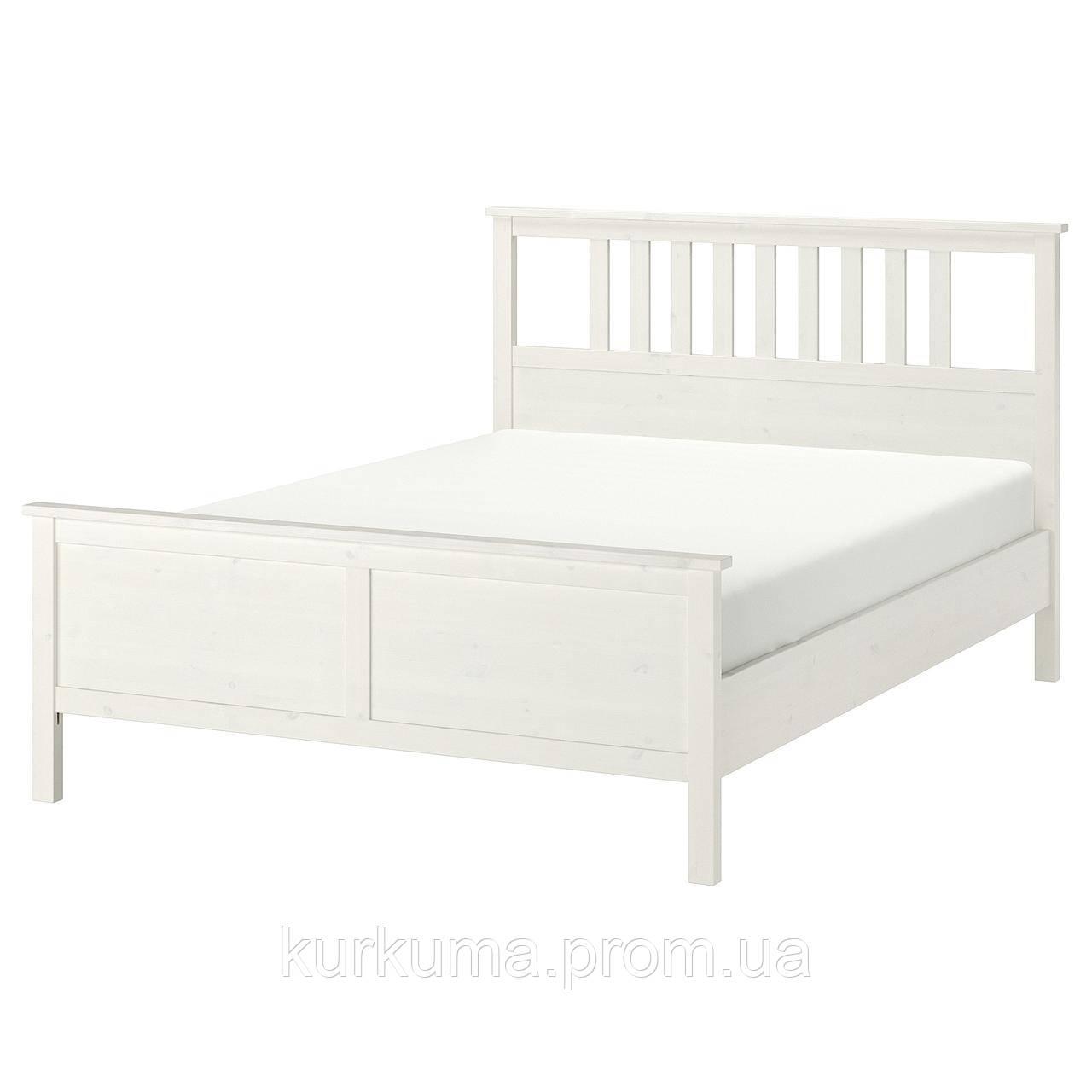 IKEA HEMNES Кровать, белая Морилка, Леирсунд  (290.197.92)