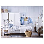 IKEA HEMNES Кровать, белая Морилка, Леирсунд  (290.197.92), фото 2