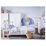 IKEA HEMNES Кровать, белая Морилка, Лонсет  (190.190.47), фото 2
