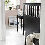 IKEA HEMNES Кровать, черно-коричневый  (599.293.37), фото 3