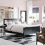 IKEA HEMNES Кровать, черно-коричневый, Лурой  (890.022.70), фото 2